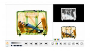X-ray baggage security inspection machine scanning image
